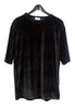 Velvet T-shirt Dress - Black