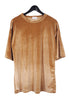 Velvet T-shirt Dress - Camel