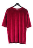 Velvet T-shirt Dress - Red