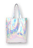 Holographic Metallic Silver Tote Bag