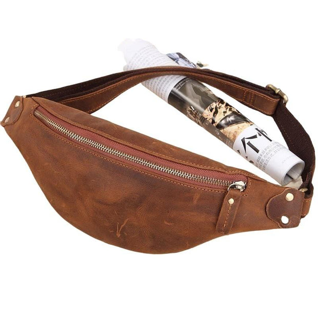 Authentic Cow Leather Made Waist Bag For Men-Sevenedge Perfect Gifts
