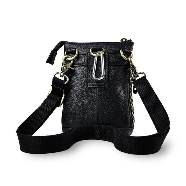 Authentic Leather Multifunction Crossbody Waist Satchel-Sevenedge Perfect Gifts