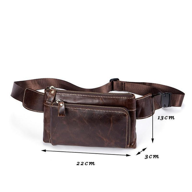 Authentic Leather Waist Pack For Men-Sevenedge Perfect Gifts