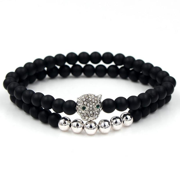 Black Matte Stone Bead Bracelet-Sevenedge Perfect Gifts