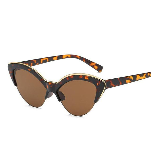 Butterfly Leopard Print Sunglasses-Sevenedge Perfect Gifts