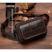 Classic Cowhide Leather Waist Bag-Sevenedge Perfect Gifts