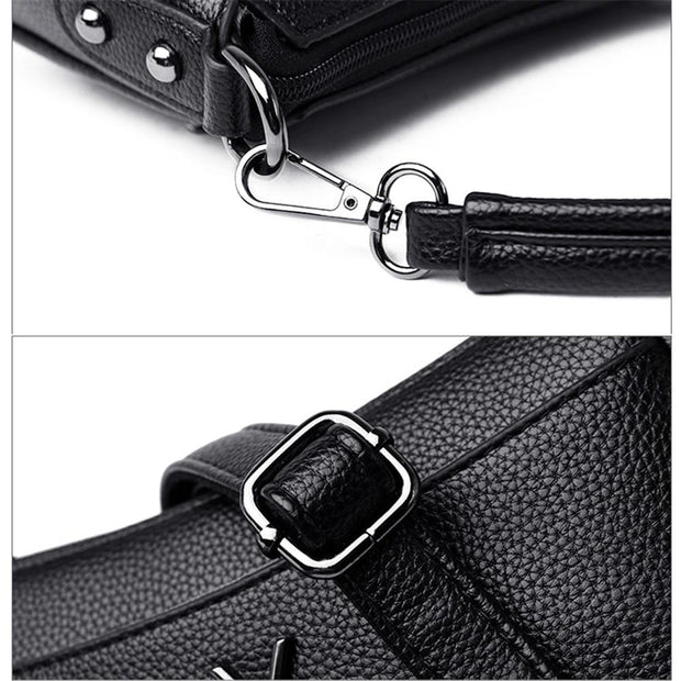 Convertible Leather Crossbody Bag-Sevenedge Perfect Gifts