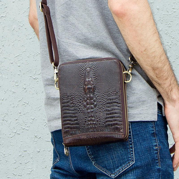 Crocodile Leather Messenger Bag-Sevenedge Perfect Gifts