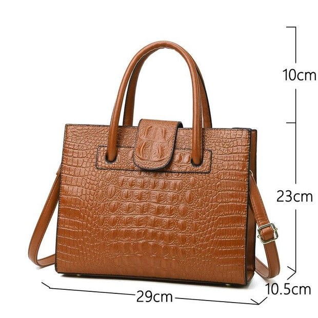 Crocodile Pattern Handbag-Sevenedge Perfect Gifts