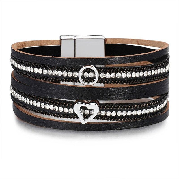 Crystal Charm Multi-Layer Bracelet-Sevenedge Perfect Gifts