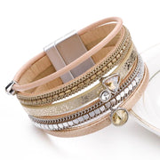 Crystal Leather Bracelet-Sevenedge Perfect Gifts