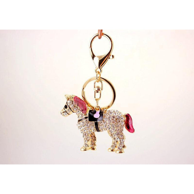 Cute Crystal-metal Horse Pendant-Sevenedge Perfect Gifts
