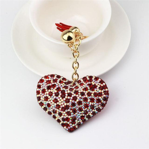 Cute Heart Bling Keychain-Sevenedge Perfect Gifts