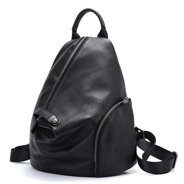 Daily Casual Genuine Leather Backpack-Sevenedge Perfect Gifts