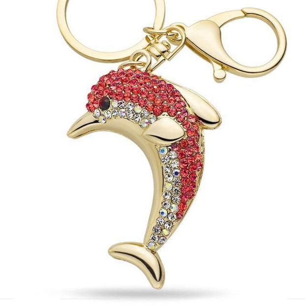 Dolphin Crystal Keyring-Sevenedge Perfect Gifts