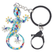 Enamel Gecko Keychain-Sevenedge Perfect Gifts