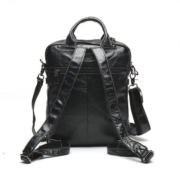 Genuine Leather Backpack Male-Sevenedge Perfect Gifts