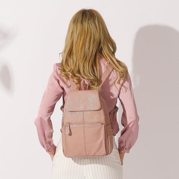 Genuine Leather Knapsack-Sevenedge Perfect Gifts