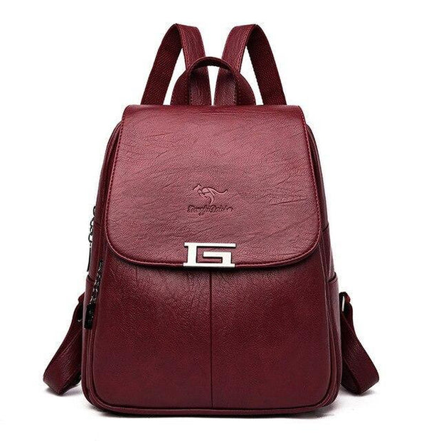 Girls' Sturdy Leather Backpack-Sevenedge Perfect Gifts