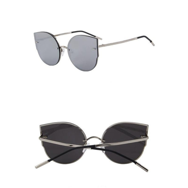 Groovy Rimless Cat Eye Sunglasses For Women-Sevenedge Perfect Gifts