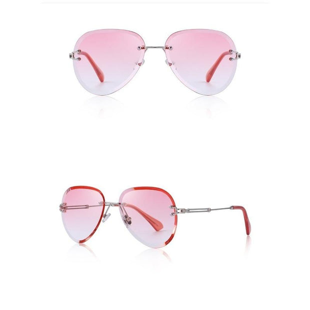 Half Rimmed Pilot Sunglasses For Women-Sevenedge Perfect Gifts