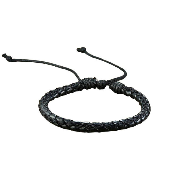 Handmade Braided Leather Bracelet-Sevenedge Perfect Gifts