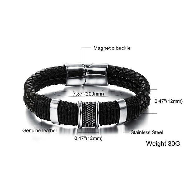Handmade Woven Leather Bracelet-Sevenedge Perfect Gifts