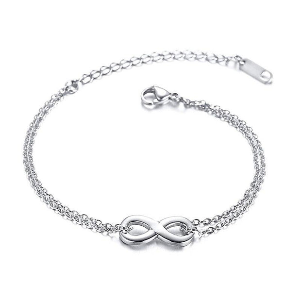 Infinity Silver Charm Bracelets-Sevenedge Perfect Gifts