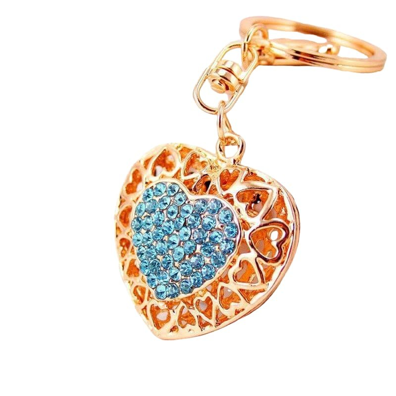 Intricate Heart Shaped Key Chain-Sevenedge Perfect Gifts