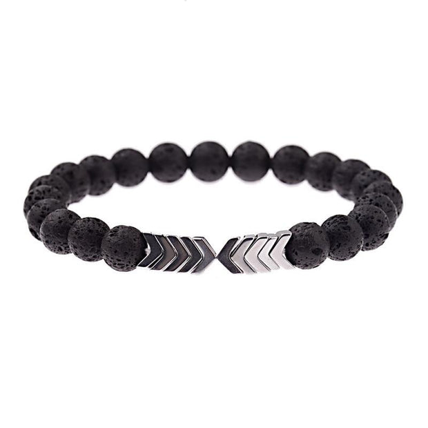 Lava Stones Arrow Bracelet-Sevenedge Perfect Gifts