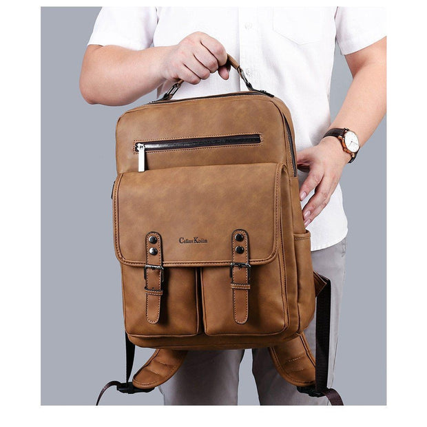 Leather Laptop Backpack-Sevenedge Perfect Gifts