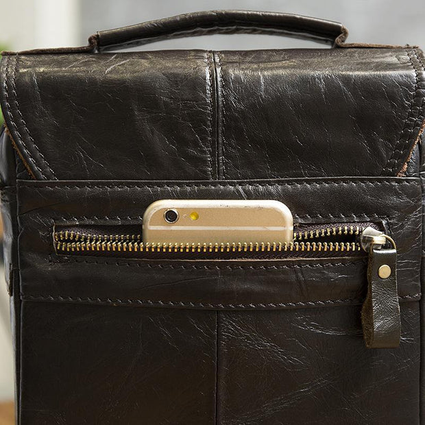 Leather Messenger Bag For Men-Sevenedge Perfect Gifts
