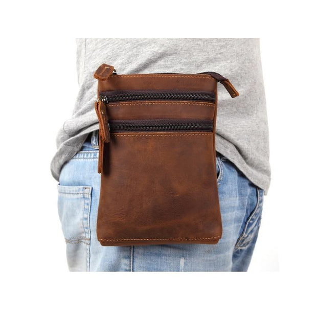 Leather Waist Pouch For Men-Sevenedge Perfect Gifts