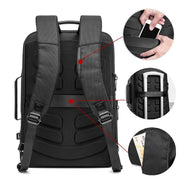 Men's Casual Leather USB Interface Backpack-Sevenedge Perfect Gifts