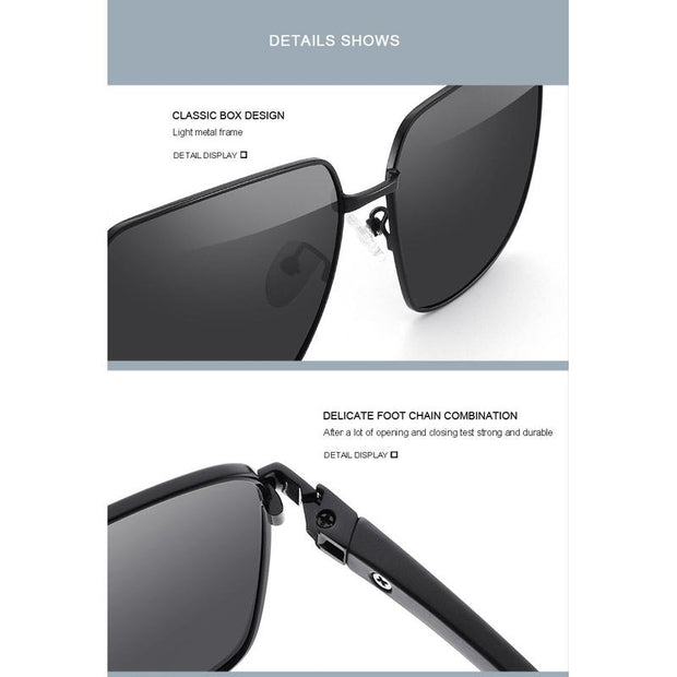 Men's Classic Rectangular Polarized Sunglasses-Sevenedge Perfect Gifts