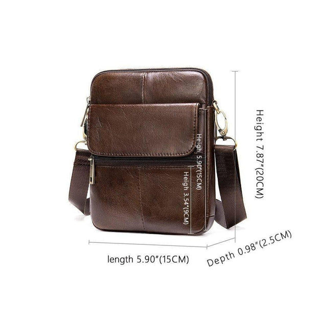Men's Leather Messenger Bag-Sevenedge Perfect Gifts