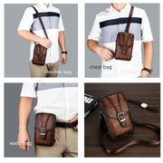 Men's Leather Shoulder Bag-Sevenedge Perfect Gifts