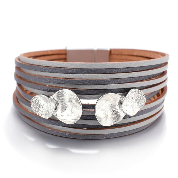 Metal Charm Leather Bracelet-Sevenedge Perfect Gifts
