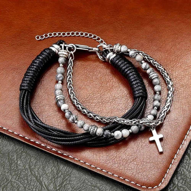 Multi-Layer Cross Bracelet-Sevenedge Perfect Gifts