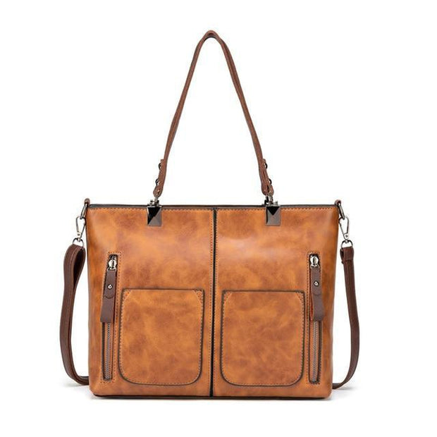 Retro Vegan Leather Shoulder Bag-Sevenedge Perfect Gifts