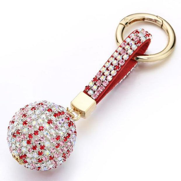 Rhinestone Crystal Ball Keychain-Sevenedge Perfect Gifts