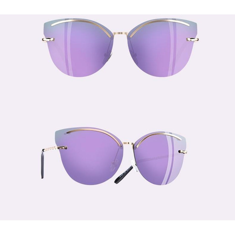Rimless Cat Eye Vintage Sunglasses-Sevenedge Perfect Gifts