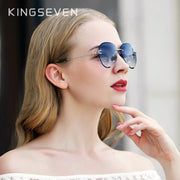 Rimless Pilot Sunglasses For Women-Sevenedge Perfect Gifts