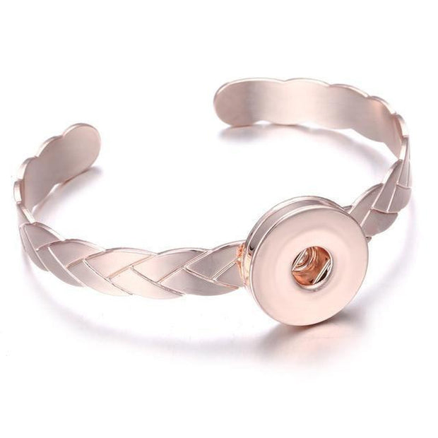 Rose Gold-Finish Snap Bracelet-Sevenedge Perfect Gifts