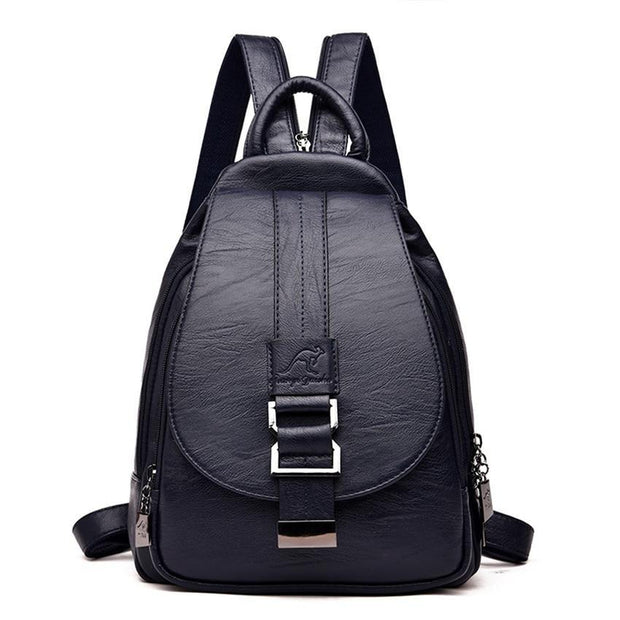 Sheepskin Leather Tall Backpack For Women-Sevenedge Perfect Gifts