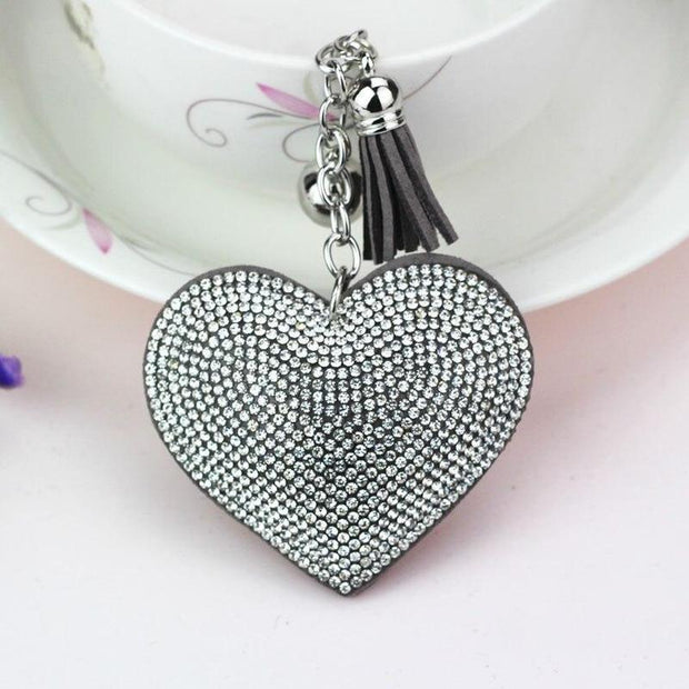 Silver Plated Heart Keychain-Sevenedge Perfect Gifts