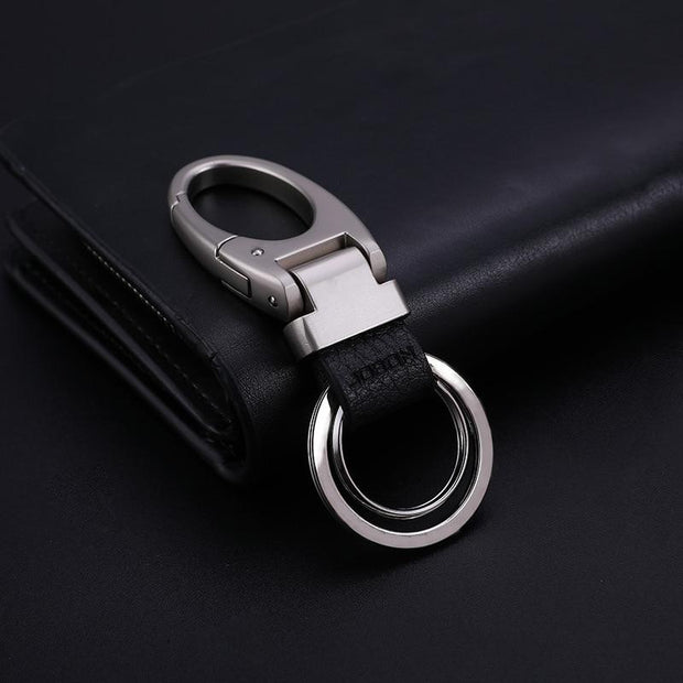 Smooth Metal And Leather Luxury Car Key Chains-Sevenedge Perfect Gifts