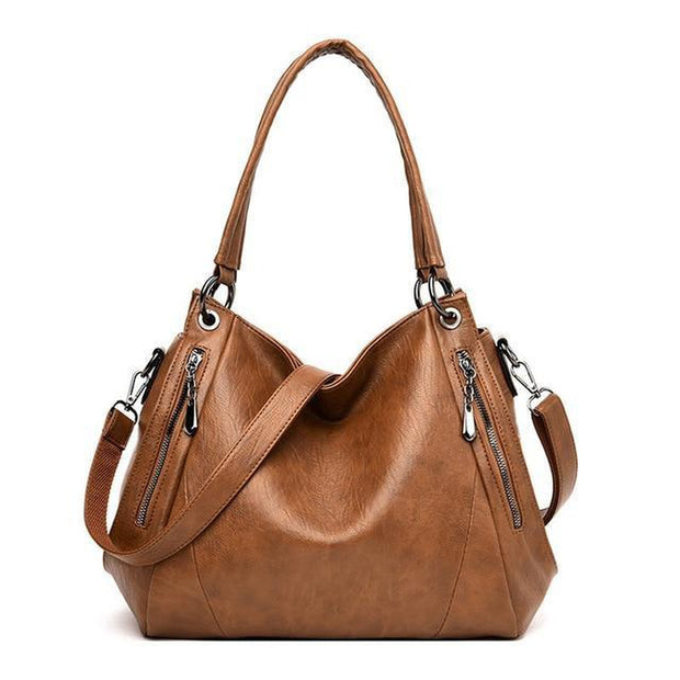 Soft Leather Shoulder Tote Bag-Sevenedge Perfect Gifts