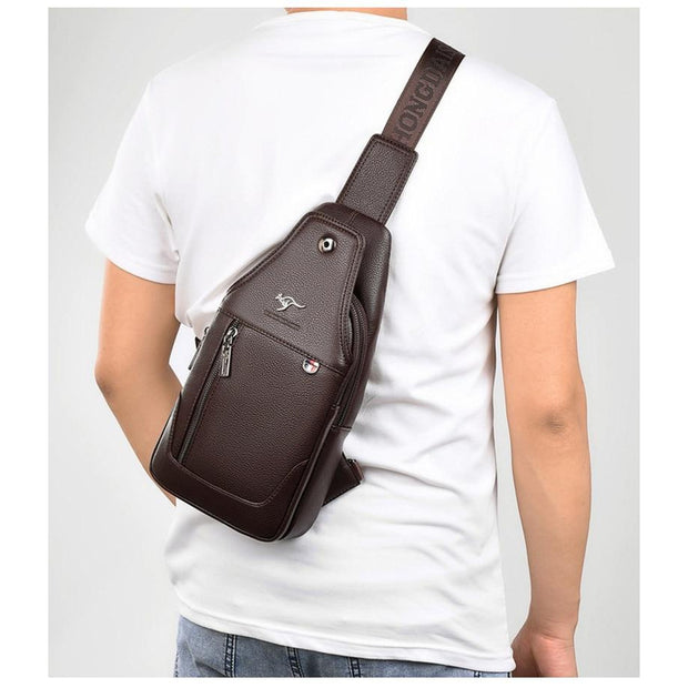 Spacious Vegan Leather Men's Chest Bag-Sevenedge Perfect Gifts