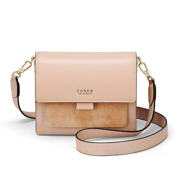 Split Leather Solid Colour Crossbody Bag-Sevenedge Perfect Gifts